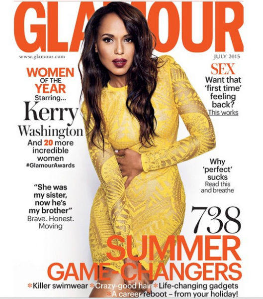 Cover Talk: Kerry Washington Sizzles For Glamour Magazine UK